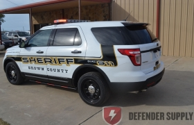 Non-reflective graphics for Tahoe - Brown Co. Kansas