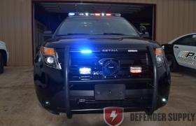 PB450L2 SETINA PUSH BUMPER WITH 2 LED WARNING LIGHTS, Setina Body Guard PB450-L Push Bumper