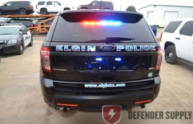 Eight Lamp TIR3™ Super-LED® Traffic Advisor™with Two End Flashing LEDs, Blue, Red and/or Amber, 30.36