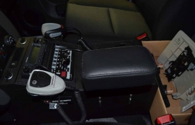 Console with controls