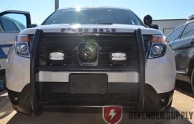Setina steel push bumper for a 2013 Ford Interceptor Utility