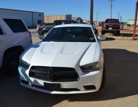 White Dodge Defender Charger